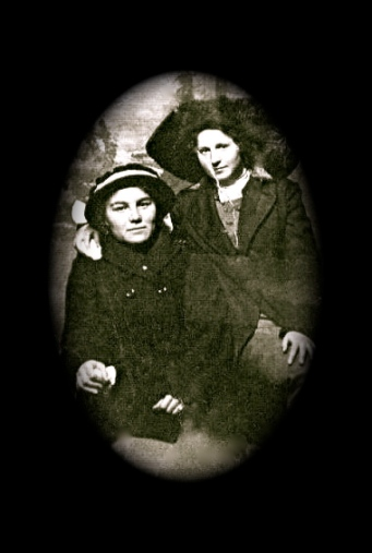 Bertha May Higgins with hats